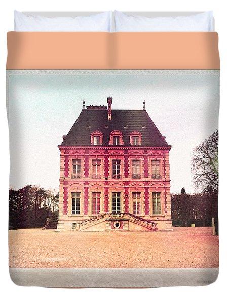 Chateau De Sceaux En Rose Duvet Cover