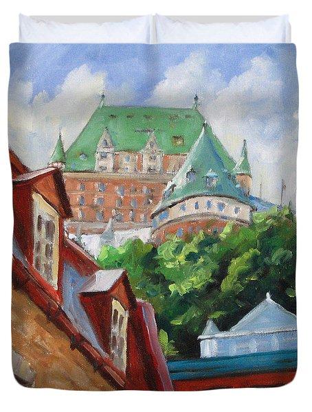 Chateau Frontenac Duvet Cover by Richard T Pranke