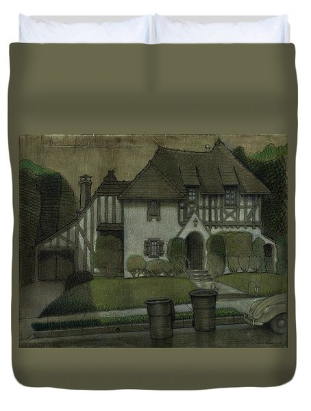 Chateau In The City Duvet Cover