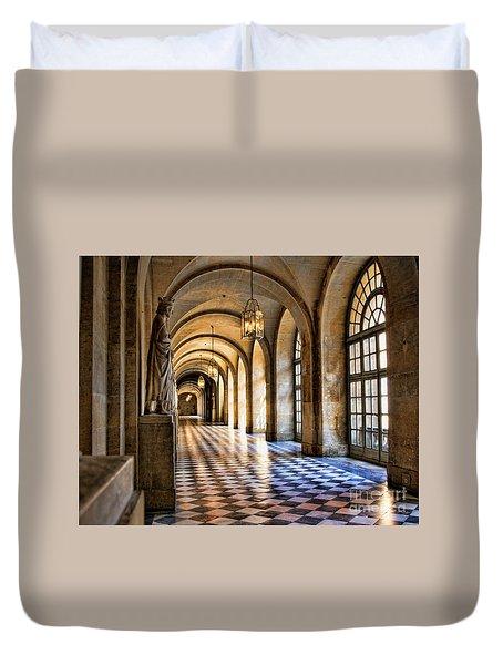 Chateau Versailles Interior Hallway Architecture  Duvet Cover