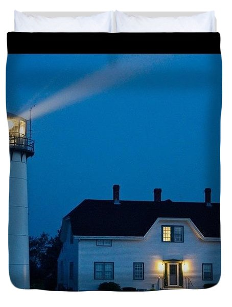 Chatham Light At Twilight Duvet Cover