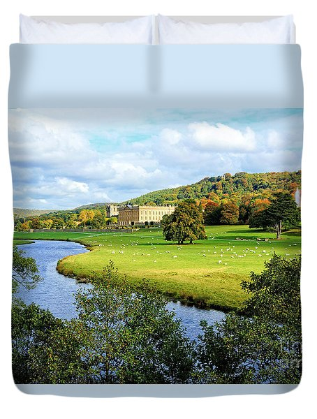 Chatsworth House View Duvet Cover