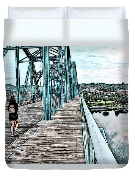 Chattanooga Footbridge Duvet Cover