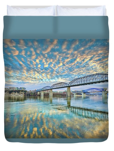 Chattanooga Has Crazy Clouds Duvet Cover