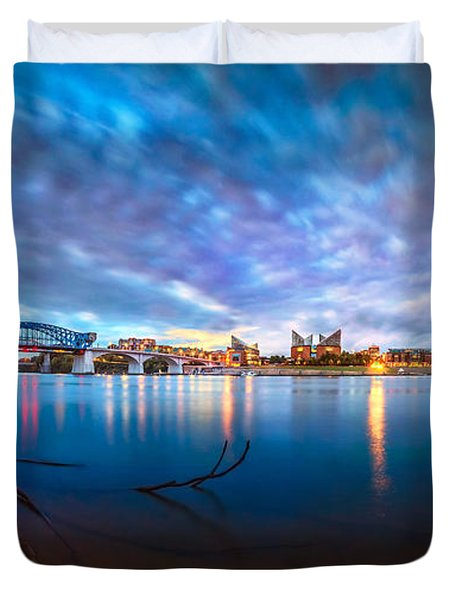 Chattanooga Riverfront At Dawn  Duvet Cover