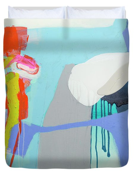 Chatting With The Mirror Duvet Cover