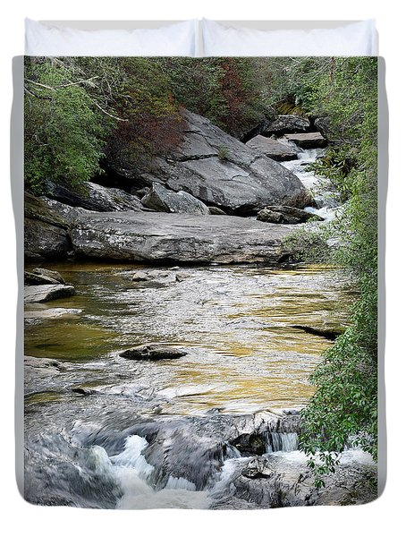 Chattooga River In Sc Duvet Cover by Bruce Gourley