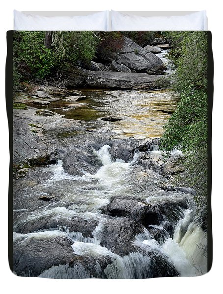 Chattooga River In South Carolina Duvet Cover by Bruce Gourley