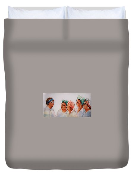 Paradise Trailer Park Welcoming Committee Duvet Cover by Jean Cormier