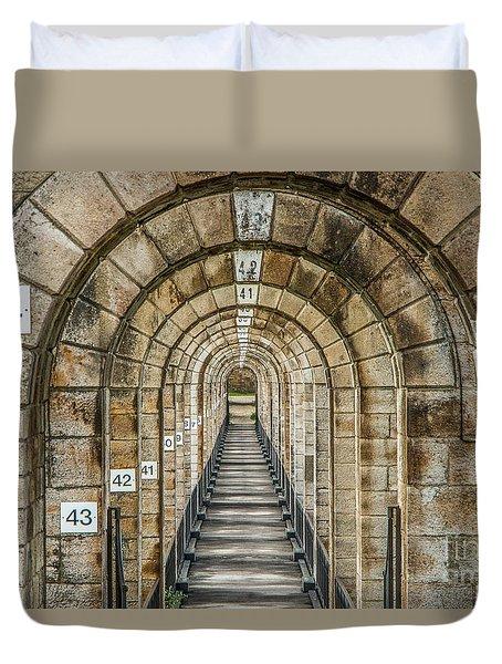 Chaumont Viaduct France Duvet Cover