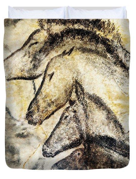 Chauvet Horses Duvet Cover