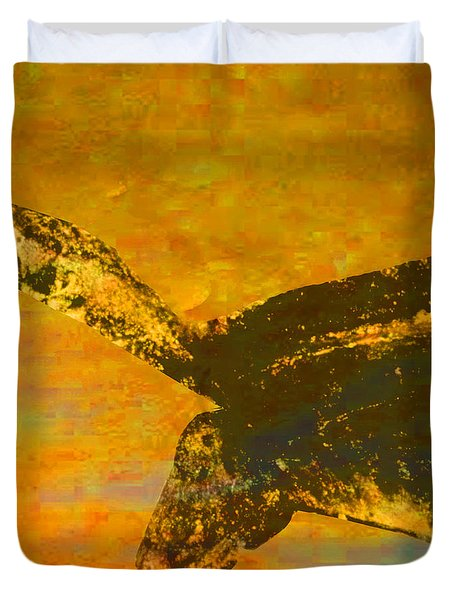 Chauvet Wild Horse Duvet Cover by Asok Mukhopadhyay