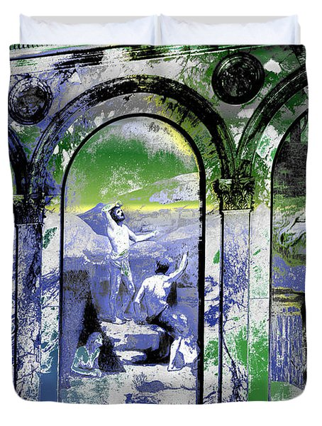 Duvet Cover featuring the photograph Chavannes Astronomy Philosophy by Robert G Kernodle