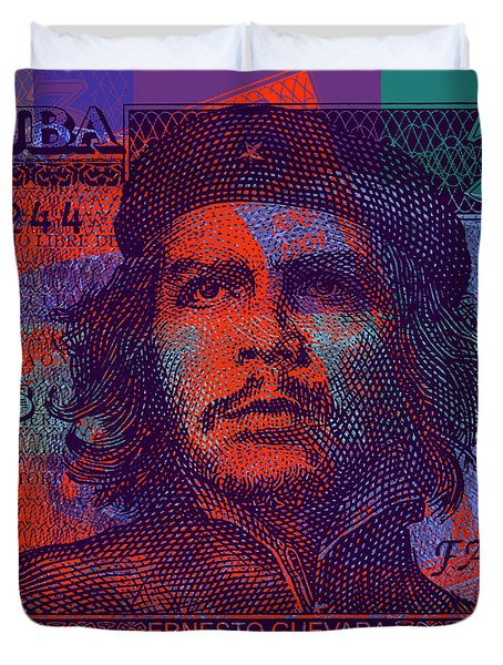 Che Guevara 3 Peso Cuban Bank Note - #3 Duvet Cover