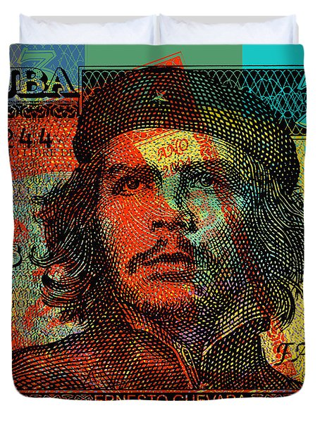 Che Guevara 3 Peso Cuban Bank Note - #1 Duvet Cover