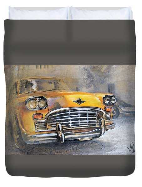 Checker Taxi Duvet Cover