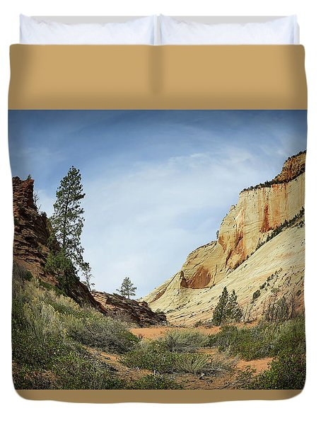 Checkerboard Mesa Duvet Cover