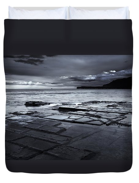 Checkerboard Squares Duvet Cover by Mike  Dawson
