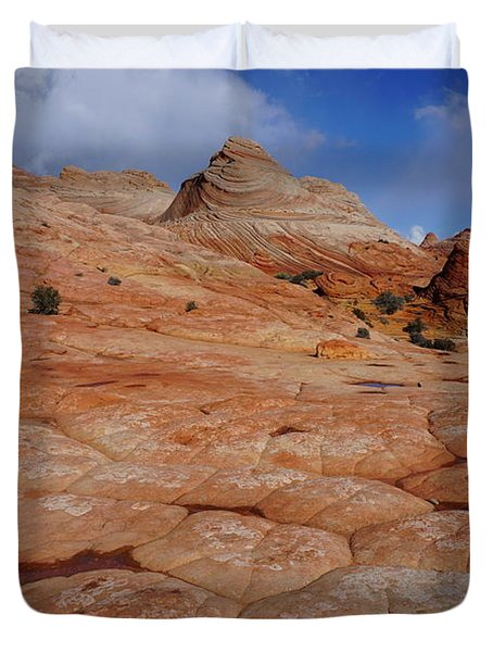 Checkered Red Rock Duvet Cover
