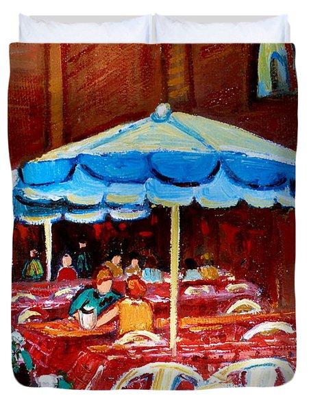 Checkered Tablecloths Duvet Cover by Carole Spandau