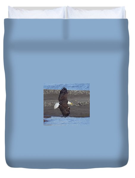 Duvet Cover featuring the photograph Checking Out The River by Elvira Butler