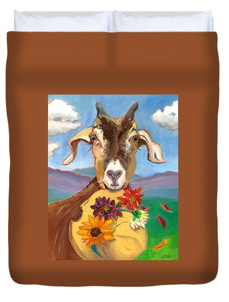 Cheeky Goat Duvet Cover by Susan Thomas