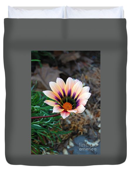 Duvet Cover featuring the photograph Cheerful Flower by Debra Thompson