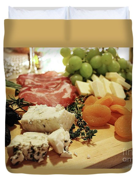 Cheese And Meat Duvet Cover