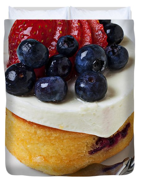 Cheese Cream Cake With Fruit Duvet Cover