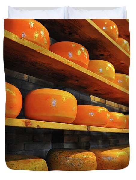 Duvet Cover featuring the photograph Cheese In Holland by Harry Spitz