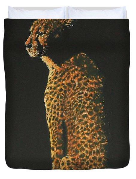 Cheetah At Sunset Duvet Cover