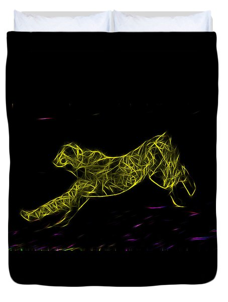 Cheetah Body Built For Speed Duvet Cover by Miroslava Jurcik