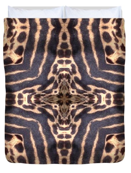 Cheetah Cross Duvet Cover by Maria Watt