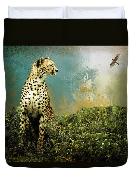 Cheetah Duvet Cover by Diana Boyd