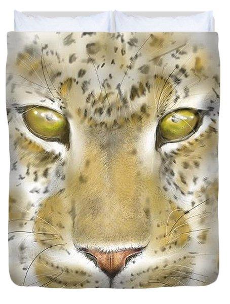 Cheetah Face Duvet Cover