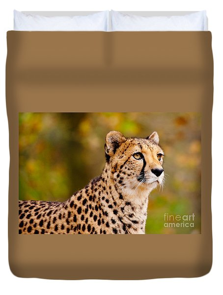 Cheetah In A Forest Duvet Cover