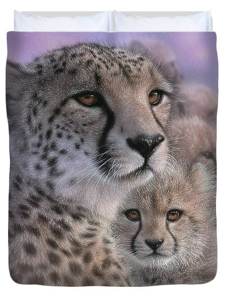 Cheetah - Mother's Love Duvet Cover