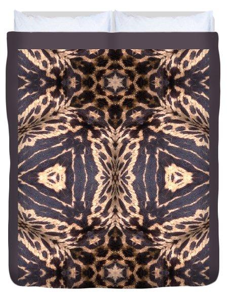 Cheetah Print Duvet Cover by Maria Watt