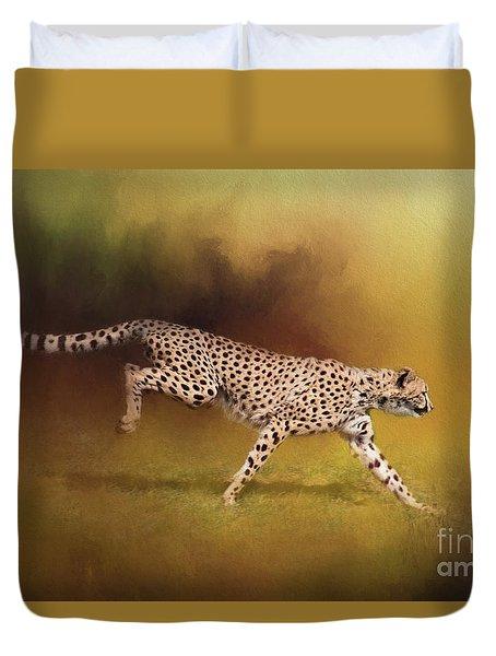 Cheetah Running Duvet Cover