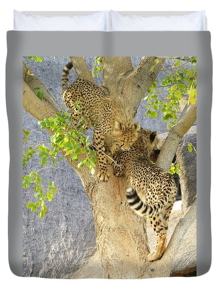 Cheetah Traffic Jam Duvet Cover