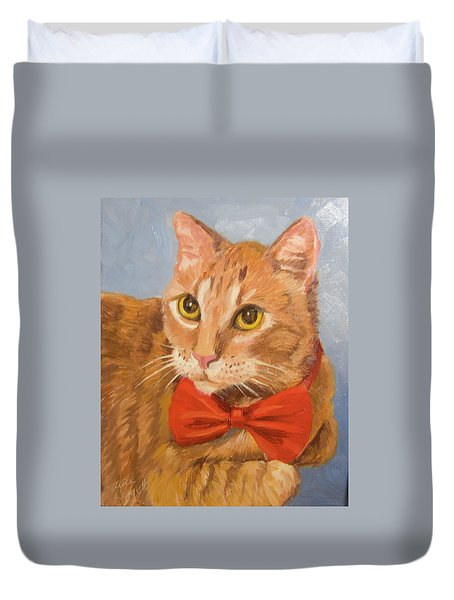 Cheetoh Cat Portrait Duvet Cover