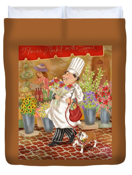 Chefs Go To Market II Duvet Cover