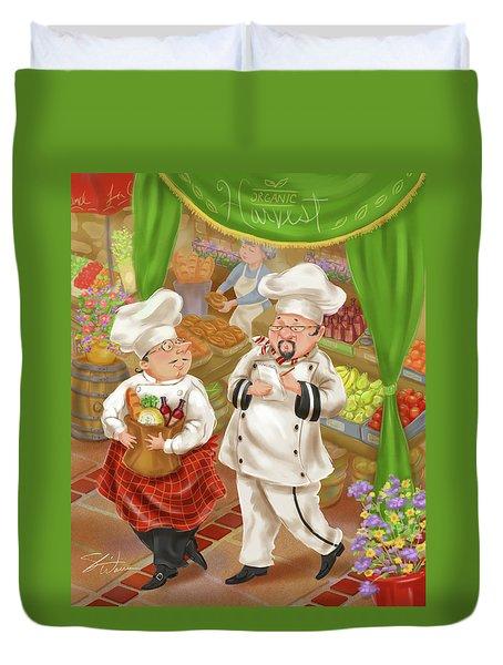 Chefs Go To Market IIi Duvet Cover