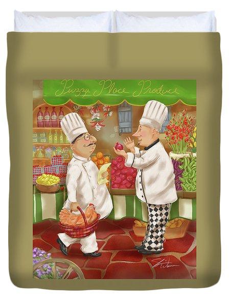 Chefs Go To Market Iv Duvet Cover