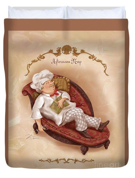 Chefs On A Break-afternoon Nap Duvet Cover