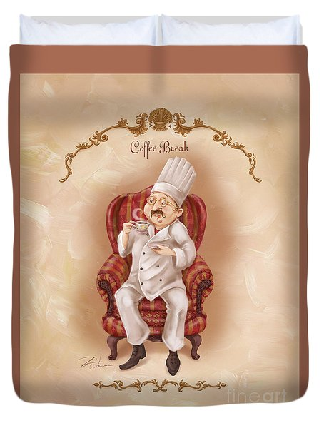 Chefs On A Break-coffee Break Duvet Cover