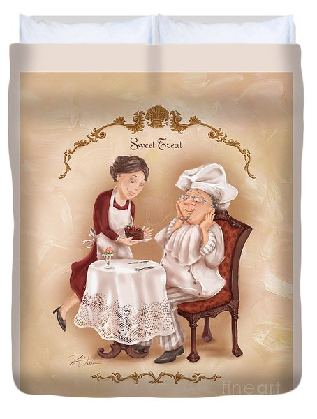 Chefs On A Break-sweet Treat Duvet Cover
