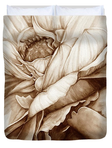 Chelsea's Bouquet 2 - Neutral Duvet Cover