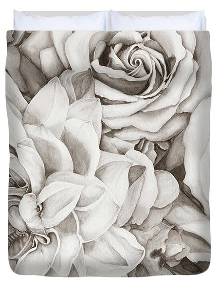 Chelsea's Bouquet - Neutral Duvet Cover