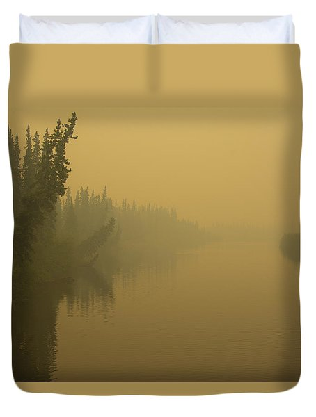 Duvet Cover featuring the photograph Chena River by Gary Lengyel